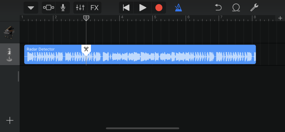 how to split and delete on garageband
