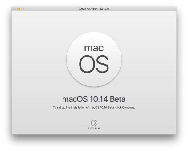 Install macOS Mojave beta